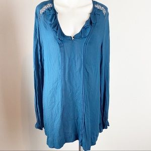 Free People Peasant Style Long Sleeve Top Tunic S